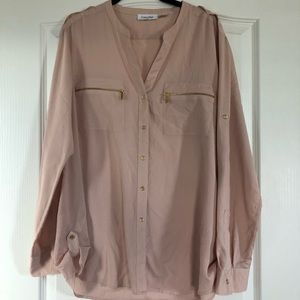 Calvin Klein Pale Pink Button Up Shirt